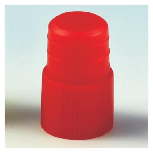 Globe Scientific Plug Tube Caps Size: 12mm; Color: Red:Beakers, Bottles,