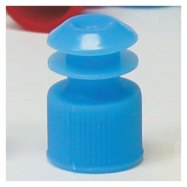 Globe Scientific Flanged Plug Caps For 13mm Tubes Blue (code B):Beakers,