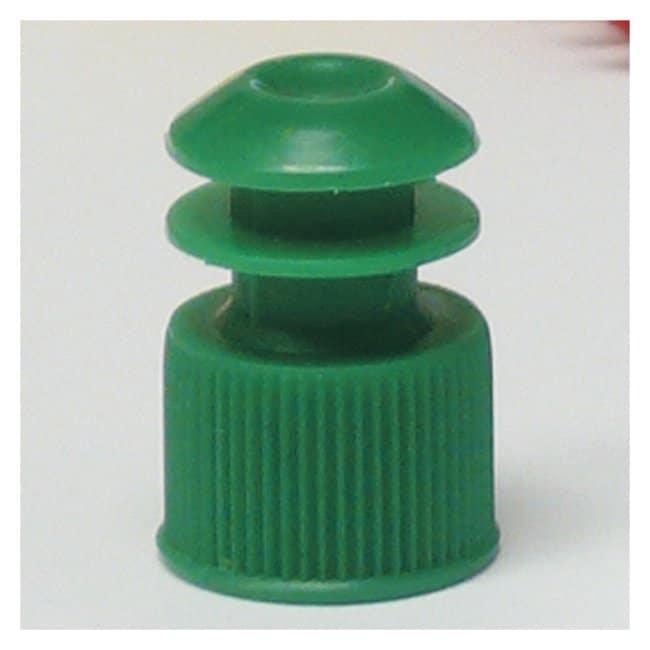 Globe Scientific Flanged Plug Caps For 13mm Tubes Green (code G):Beakers,