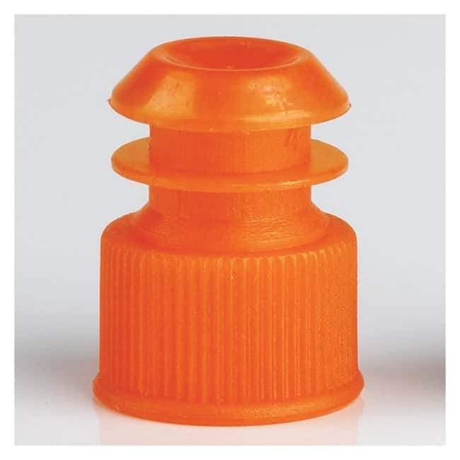 Globe Scientific Flanged Plug Caps For 13mm Tubes Orange (code N):Beakers,