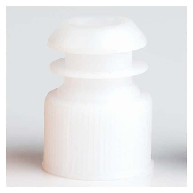 Globe Scientific Flanged Plug Caps For 13mm Tubes White (code W):Beakers,