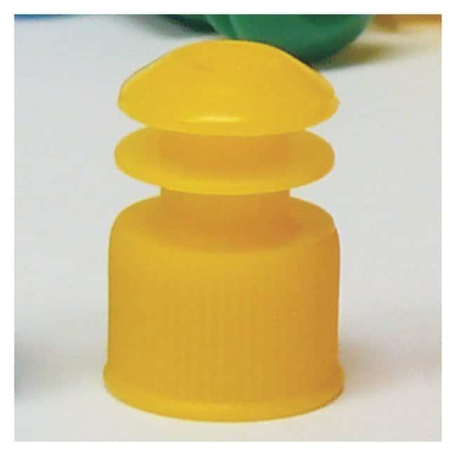 Globe Scientific Flanged Plug Caps For 13mm Tubes Yellow (code Y):Beakers,