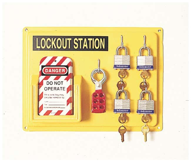 Honeywell Lockout Stations Complete Four Lockout Station:Gloves, Glasses