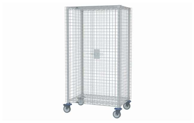 Metro™ MetroMax Q Stem Caster Mobile Security Unit Corrosion resistant polymer casters; L: 1645mm; Shelf size: 610 x 1524; Wt.: 81kg Metro™ MetroMax Q Stem Caster Mobile Security Unit