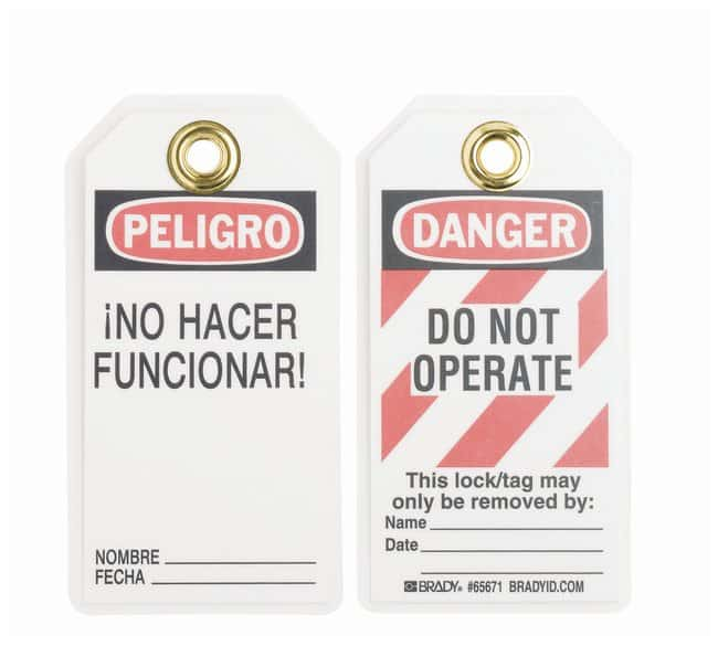 Brady™ Heavy Duty Laminated Lockout Tags