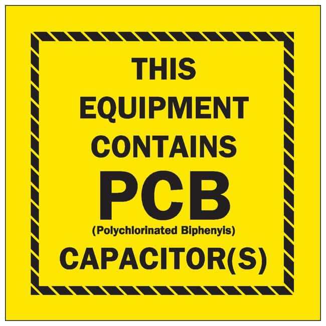 Brady PCB Markers Message: This Equipment Contains PCB; EPA Reference 761.204(d);
