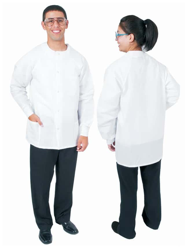 DenLineProtection Plus Fluid-Resistant Short-Length Lab Jackets Size: 4X-Large;