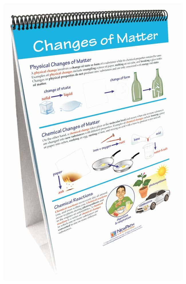 NewPath Learning Chemical Reactions Flip Chart Set - Teaching Supplies,  Chemistry Classroom