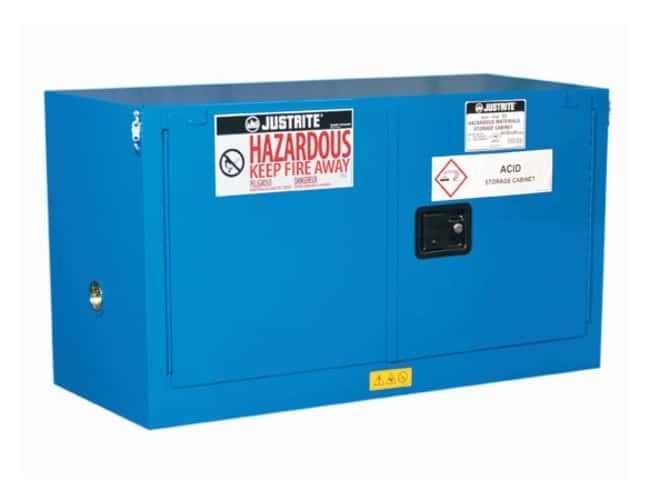 Justrite Chemcor Lined Piggyback Safety Cabinets for Hazardous Materials