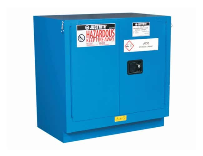 Justrite Chemcor Lined Undercounter Safety Cabinets for Hazardous Materials