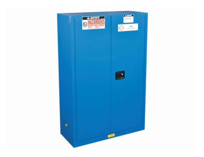 Justrite Chemcor Lined Safety Cabinets for Hazardous Materials 2 shelves;
