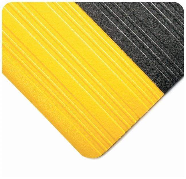 Wearwell Tuf Sponge Mat Size: 3 x 12 ft.; Color: Black w/yellow borders:Gloves,