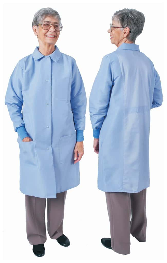 DenLine Protection Plus Fluid-Resistant Ladies Long-Length Lab Coats Ceil