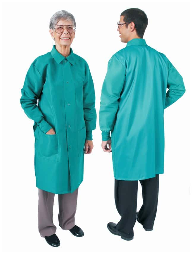 DenLine Protection Plus Fluid-Resistant Long-Length Lab Coats Size: 2X-Large;