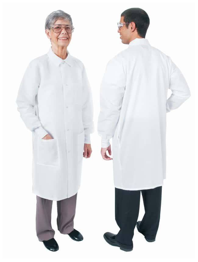 DenLine Protection Plus Fluid-Resistant Long-Length Lab Coats Size: Large;