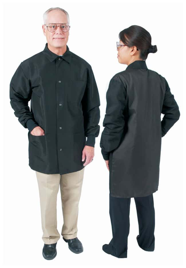 DenLine Protection Plus Fluid-Resistant Mid-Length Lab Jackets Black; Size: