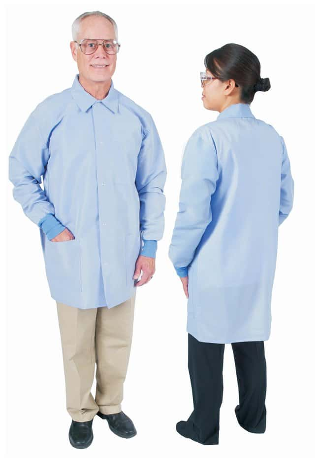 DenLine Protection Plus Fluid-Resistant Mid-Length Lab Jackets Ceil blue;