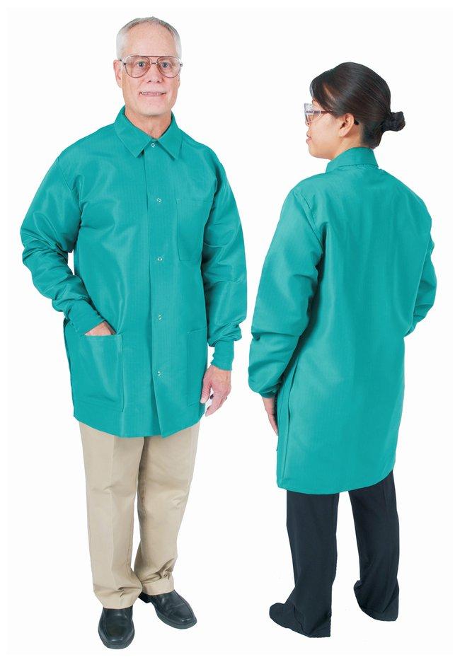 DenLine Protection Plus Fluid-Resistant Mid-Length Lab Jackets Emerald
