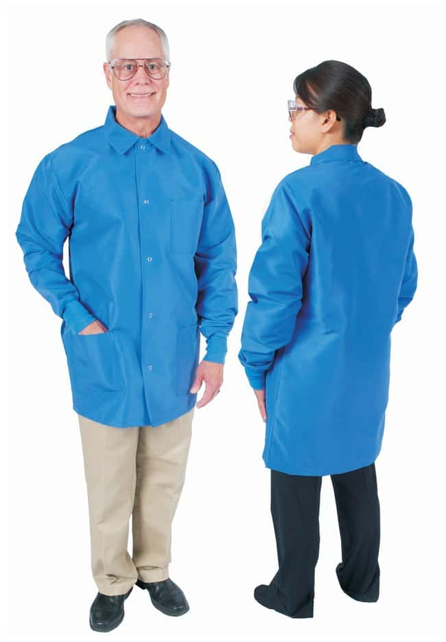 DenLine Protection Plus Fluid-Resistant Mid-Length Lab Jackets Royal blue;
