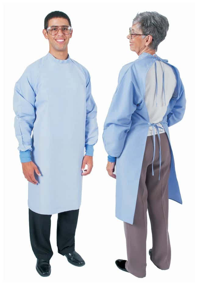 DenLine Protection Plus Fluid-Resistant Long-Length Open-Back Aprons, Ceil