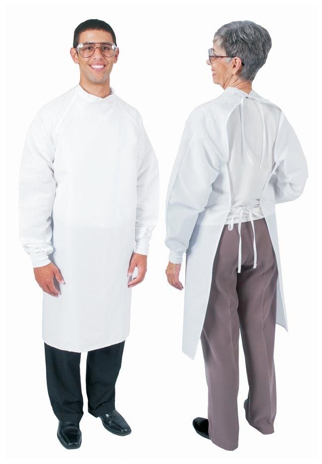 DenLine Protection Plus Fluid-Resistant Long-Length Open-Back Aprons, White
