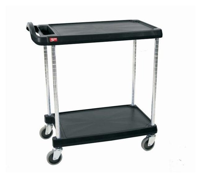 Metro™myCart Series™ Utility Cart, Black 2-Shelf base model; Black; Load rating: 400 lbs. (181.1kg); Size: 23.5 x 34.37 x 35.37 in. (59.7 x 87.3 x 89.9cm) W x L x H Metro™myCart Series™ Utility Cart, Black