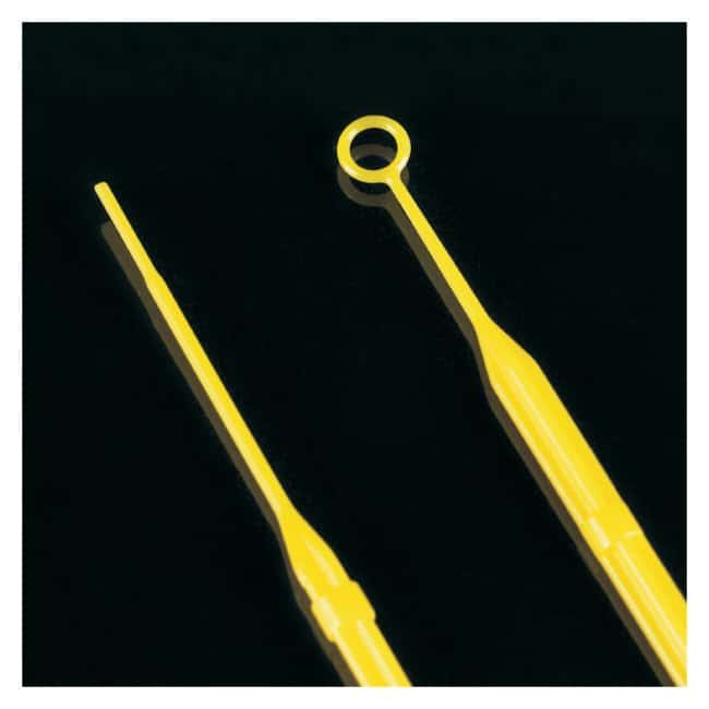Globe Scientific Sterile Rigid Inoculating Loops with Needles Color: Yellow;