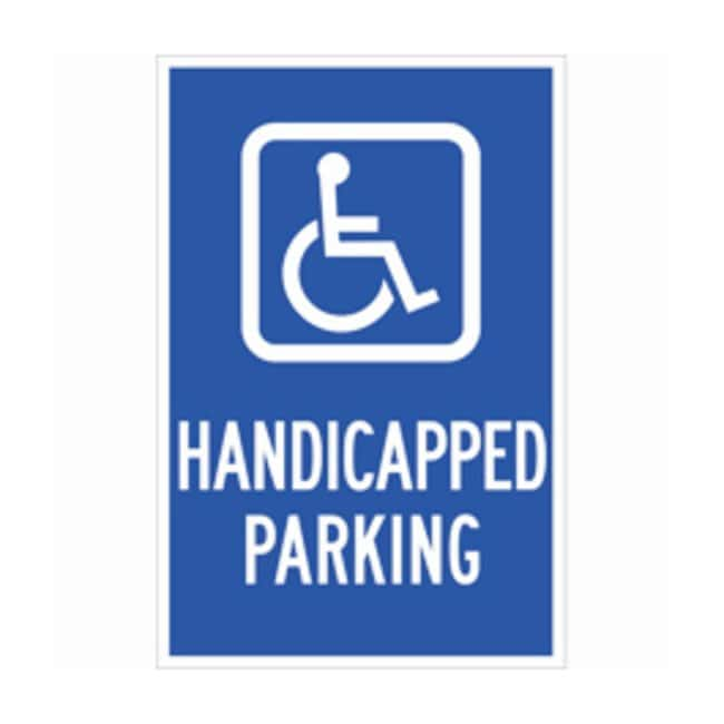 Brady B-959 Reflective Traffic Sign: HANDICAPPED PARKING Legend: HANDICAPPED