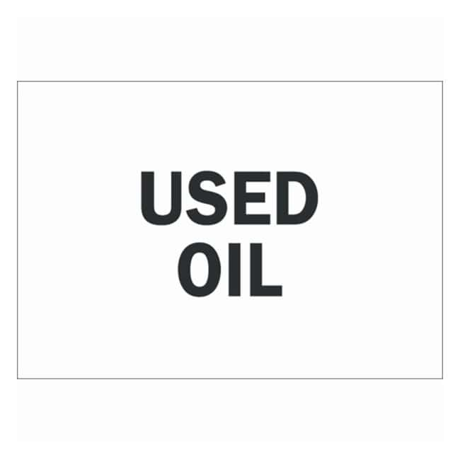Brady Chemical and Hazardous Materials Sign: USED OIL Self sticking polyester;