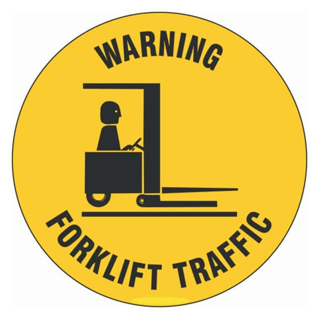 Brady Floor Safety Sign: WARNING FORKLIFT TRAFFIC W/PICTO Legend: WARNING