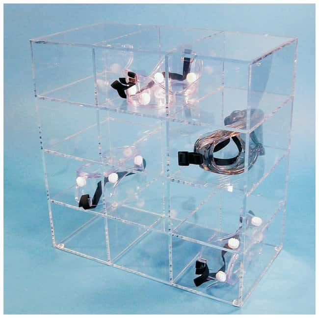 S-Curve Safety Goggles/Glasses Dispensers with 12-Compartments 0.25 in.