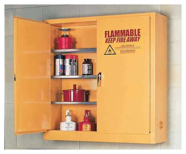 Eagle Flammables Wall-Mount Cabinet:Gloves, Glasses and Safety:Hazardous
