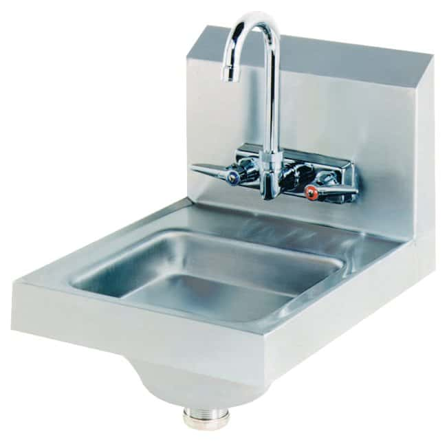 Advance TabcoStainless-Steel Hand Sinks Deck-mounted fixed faucet; 14W