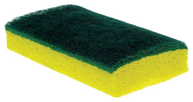3M Scotch-Brite Medium-Duty Scrub Sponge No. 74  Dual action scrub sponge:Gloves,