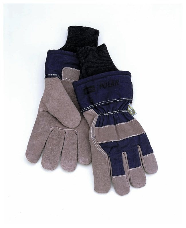 Honeywell North Polar Gloves Gray leather palm/blue backing:Gloves, Glasses