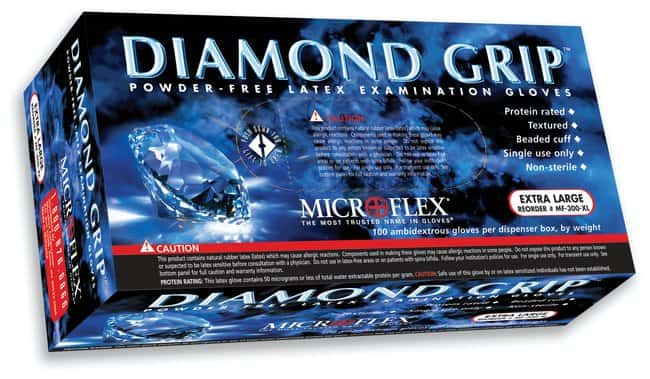 Microflex&trade;&nbsp;Diamond Grip&trade; Powder-Free Latex Exam Gloves&nbsp;<img src=