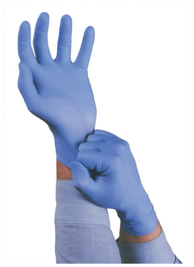 Ansell TNT Blue Economy Nitrile Gloves  Powder-free; Large:Gloves, Glasses