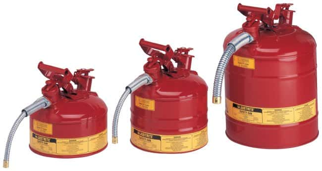 Justrite™ Type II AccuFlow™ Steel Safety Can for Flammables