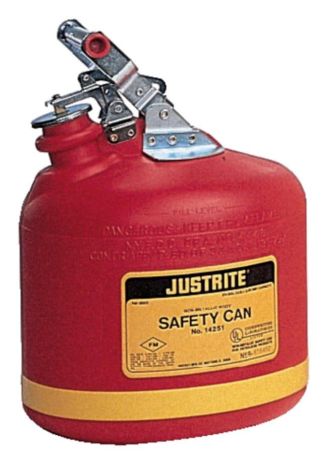 Justrite Nonmetallic Round Type I Safety Cans:Gloves, Glasses and Safety:Hazardous