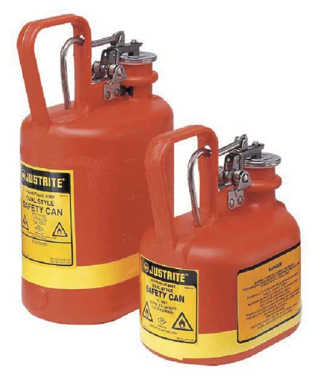 Justrite Nonmetallic Oval Type I Safety Cans:Gloves, Glasses and Safety:Hazardous