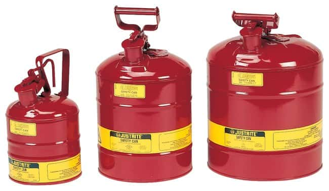 Justrite™ Type I Steel Safety Cans Red; 1 gal. (3.8L) Justrite™ Type I Steel Safety Cans