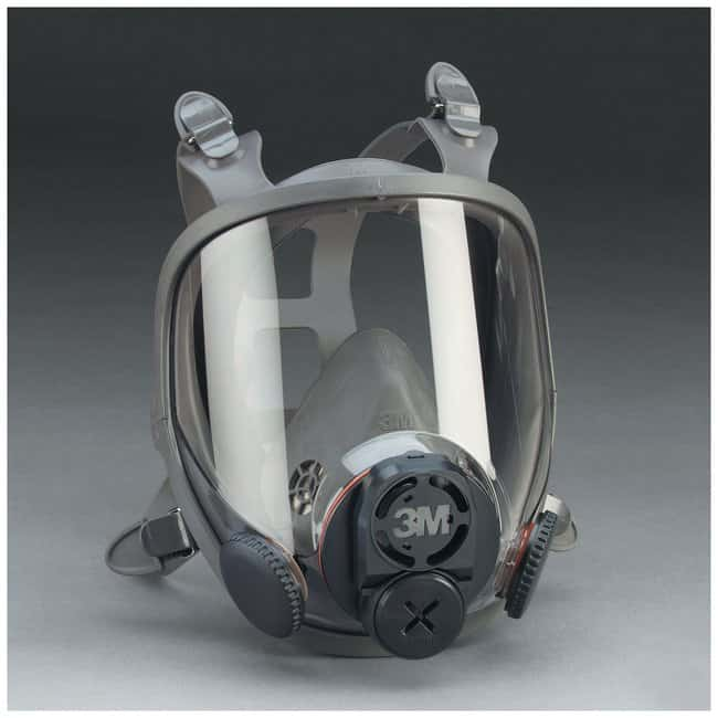 3M Full-Facepiece 6000DIN Series Respirator 6000DIN Facepiece, Large:Gloves,