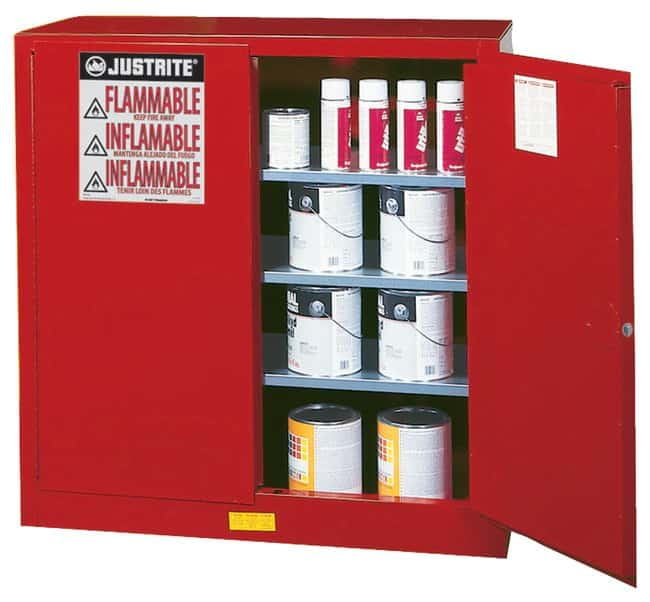 Justrite Sure-Grip EX Combustibles Safety Cabinet for Paint and Ink:Gloves,