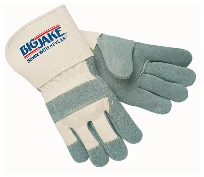 MCR Safety Memphis Gloves Big Jake Leather Gloves 2.75 in. Safety cuff;