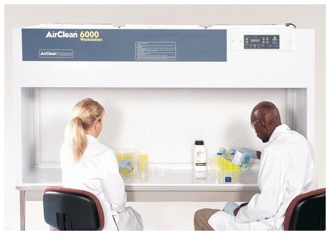 AirClean SystemsPolypropylene Horizontal Laminar Flow Clean Bench:Laboratory