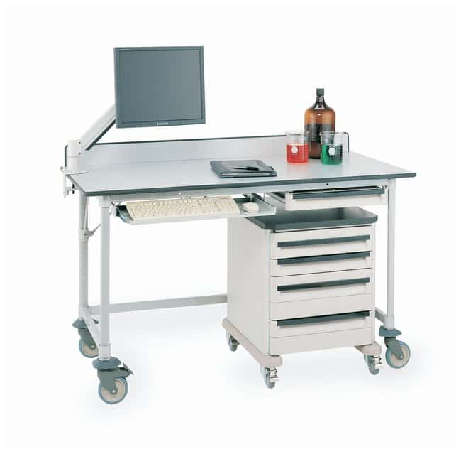 Metro™MetroMax i™ Polymer Lab Worktable, Gray Phenolic Top with 3-Sided Frame: Tables and Accessories Work Surfaces