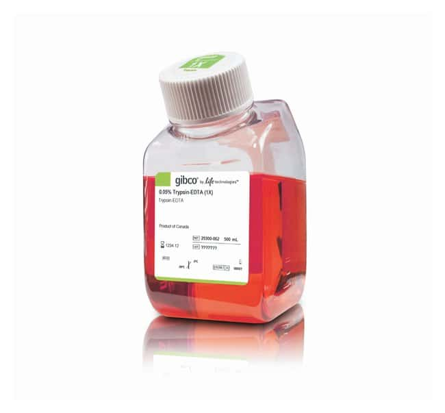 Gibco™Trypsin-EDTA (0.05%), Phenol red: Antibiotics, Buffers and Supplements Cell Culture