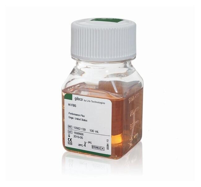 Gibco™Sérum de veau fœtal, certifié, inactivé par la chaleur, origine américaine: Sérum de veau fœtal et autres sérums Culture cellulaire