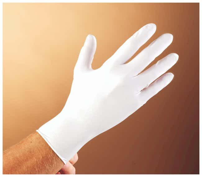 Microflex White Nitrile Gloves Color: white; Size: Large:Gloves, Glasses