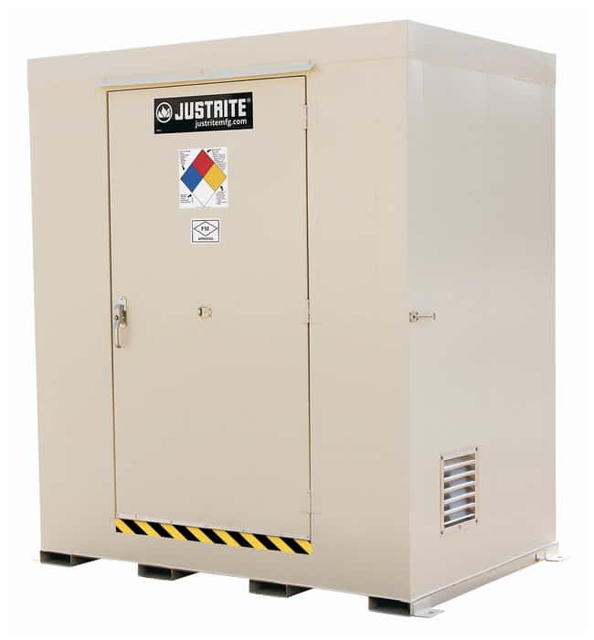 Justrite Non-Combustible Outdoor Safety Lockers  Capacity: (12) 55-gal.